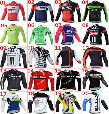 For Winter, 2016 New Thermal Fleece long sleeve Men's cycling jersey Race Fit