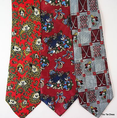 Mickey Mouse Disney Ties Lot of Cartoon Neckties 3 for 1 Special
