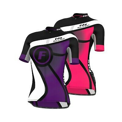 FDX Ladies Cycling Jersey Half Sleeve Top Racing Team Breathable Biking Shirt