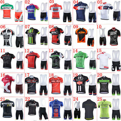 2016 new Bike racing clothing cycling jersey and bib shorts set gel pad Race Fit