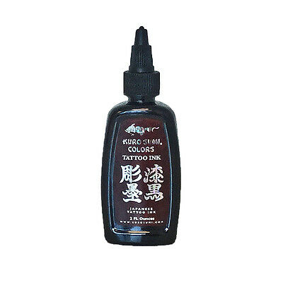 Authentic Kuro Sumi Double Sumi Tribal Black Japanese Tattoo ink 2oz MADE IN USA