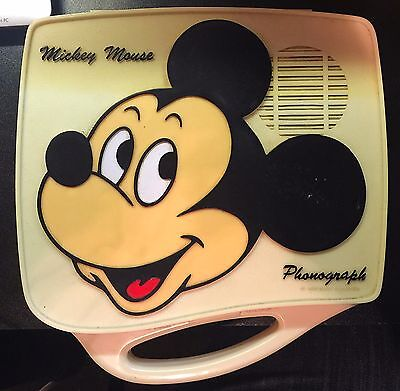 Vintage Mickey Mouse Record Player Phonograph Parts or Repair
