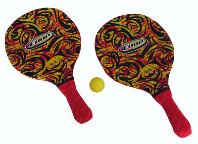 COOP Hydro Smash Paddle Ball Game for Beach or Pool - Yellow Swirl