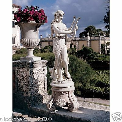 Ancient Roman Daughter Of Zeus Playing A Harp Sculpture - Of Arts And Science
