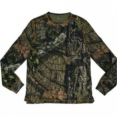 Mossy Oak Men's Long Sleeve Thermal Henley. Free Delivery