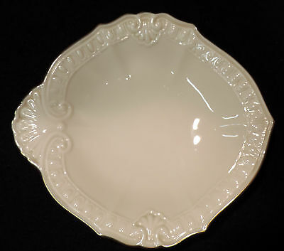 "Lenox ""Chadwick"" embossed rim 6in Small dish 24k gold trim USA"