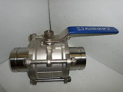 """NEW Fluid Quip 3"""" 316L STAINLESS Grooved Pipe(VICTAULIC TYPE)BALL VALVE 1000 WOG"""