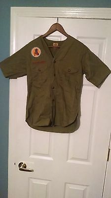 Vintage BSA Boy Scouts 1950 Valley Forge National Jamboree Uniform Shirt