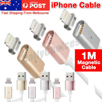 Magnetic Adapter Charger Cable charging Fast USB Cord Plug For iPhone XS X iPad