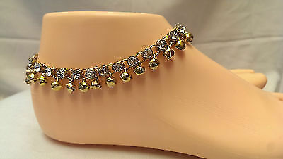Anklet Payal Indian Bollywood Ankle chain diamante anklet gold jewelry