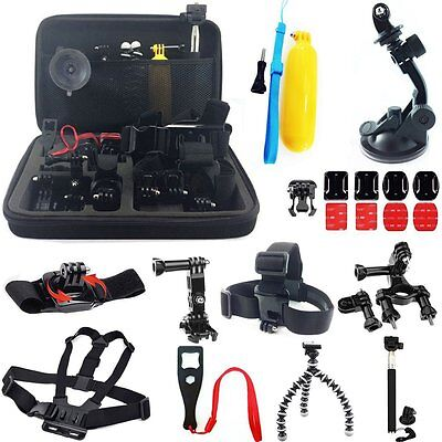 24 in 1 Accessories kit Head Chest Mount Floating Monopod For GoPro Camera SJCAM