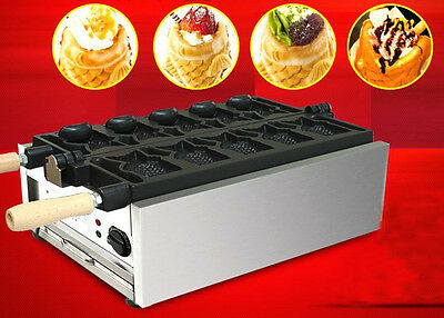 Electric Open Mouth Taiyaki Machine110V Fish Type Ice Cream Waffle Maker Machine