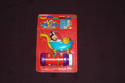 Vintage 1996 Tootsie Toys Mickey Mouse Kid's Stuff Bubble Blowing Pipe NEW MIP
