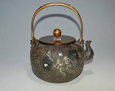 Japanese Antique Iron Tea Kettle Tetsubin teapot Chagama #1772