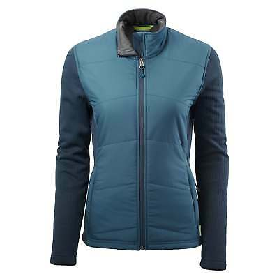 Kathmandu Ohau Womens Windproof Zip Up Warm Winter Fleece Jacket Blue