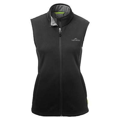 Kathmandu Ohau Womens Windproof Zip Up Warm Winter Fleece Vest Black