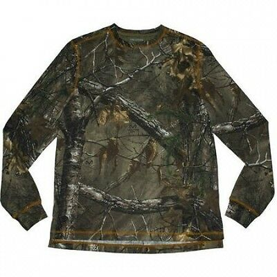 Realtree Men's Long Sleeve Thermal Henley. Brand New