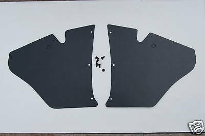 EJ EH HOLDEN Kick Panels Black (pair) plus 6 Trim Buttons - Suit All Body Types