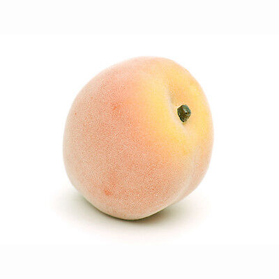 Artificial Yellow Peach 8cm Realistic Life Size Fake Mock Summer Fruit