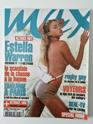 Magazine / revue MAX french #165 octobre 2003  Estella Warren