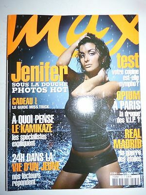 Magazine / revue MAX french #164 septembre 2003 Jenifer sous la douche