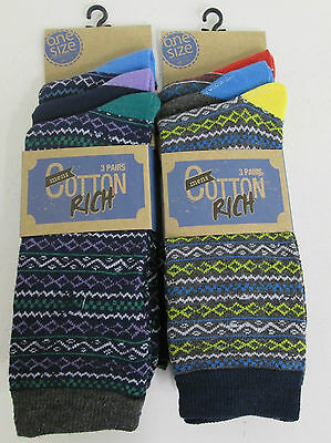 Mens modern casual cotton rich socks 7-11 style SK039