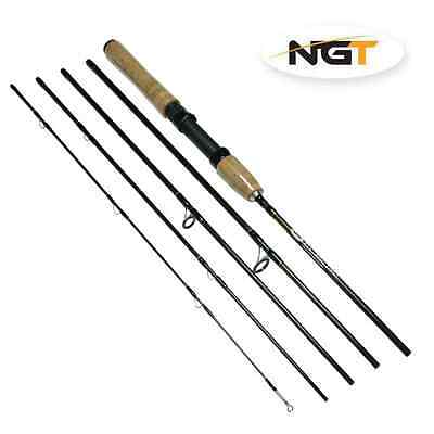 NGT Fly-Spin 7.5ft 5 Piece Convertable 2 in 1 Carbon Rod with Carry Case + Tube
