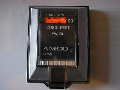 "Elster Amco, Badger, Cubic Feet 1 1/2""- 2""  Water Meter  Remote Wall Unit"