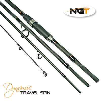 NGT 8ft Dynamic Travel Spin 4pc carbon rod Cast 10-40g (ideal Carp Stalking Rod)
