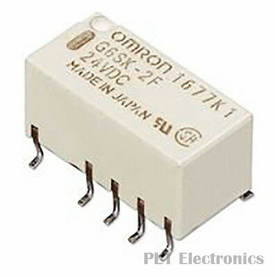 OMRON ELECTRONIC COMPONENTS    G6SK2F24DC    Signal Relay, G6S Series, Latching