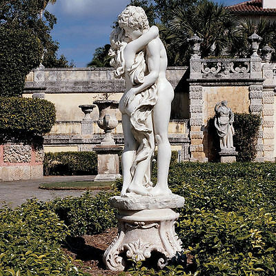 Nude Passionate Lovers Display Affection In The Gardens Romance Sculpture 67Lbs