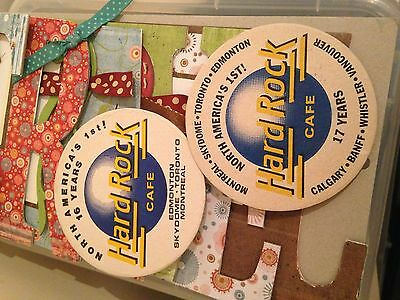 Hard Rock Cafe HRC Beer Coasters Set Of 2 Never Used