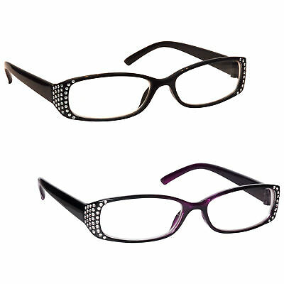 UV Reader Womens Ladies Diamonte Style Reading Glasses
