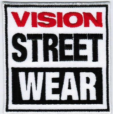Vision Street Wear Footwear Badge Iron On Embroidered Patch