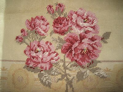 """Preworked Needlepoint Canvas Tapestry Beautiful Flowers 23"""" x 23"""""""