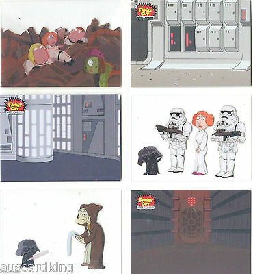 Star Wars - Family Guy - Scenes from Space - Complete Chase Card SET(6) - NM