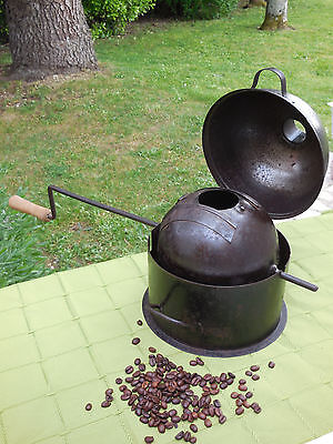 French Antique Bistro Coffee Roaster Hand Crafted RARE -