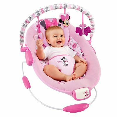 Disney Minnie Mouse Pink Bouncer chair - Baby Girl Newborn Vibrating musical