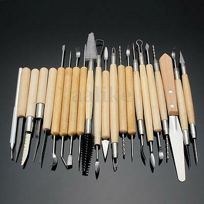 22pcs Pottery Sculpture Tools Clay Sculpting Carving Polymer Modeling Craft New