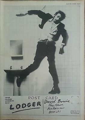 """David Bowie Lodger Original Advert 16 X 12"""" Poster Size 26 May 1979"""