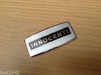 Lambretta Sx Innocenti Horncast Badge. Black. Stick On Type. Brand New