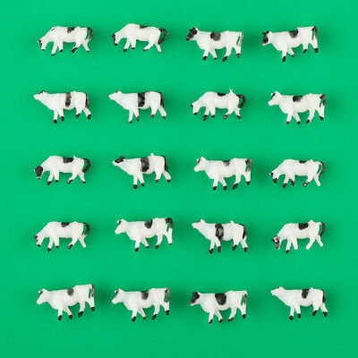 20pcs 1:150 Well Painted Farm Animals Cows N Scale