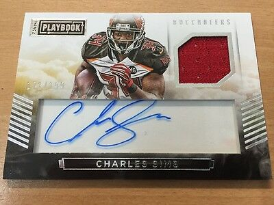 2015 Panini Playbook Charles Sims Auto Relic  171/199 Tampa Bay Buccaneers