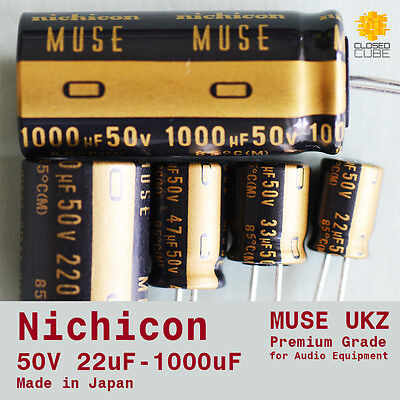 "Nichicon UKZ KZ ""MUSE"" Premium Grade for Audio [50V] Capacitors (Japan)"