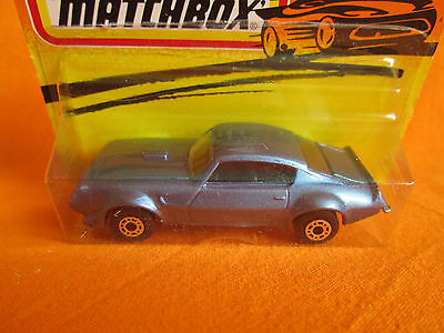 matchbox made in bulgaria Pontiac 1988 vintage model diecast Sport. Blue