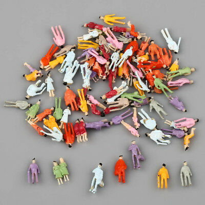 1 Set of 100 Painted People Figures Model Z Scale Train 1:200