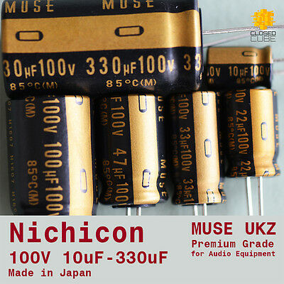 "Nichicon UKZ KZ ""MUSE"" Premium Grade for Audio [100V] Capacitors (Japan)"