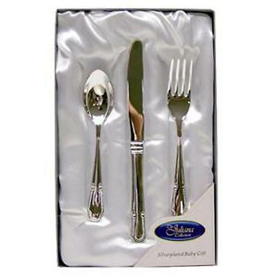 Silver Plated 3pc Child Cutlery Set from Juliana
