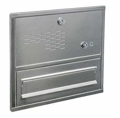 Through the Wall post  box  letterbox  stainless steel with door bell