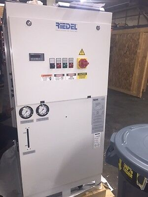 2014 Riedel 4 Ton Portable WATER Cooled Chiller NEW Never Used, 460V Pump Tank